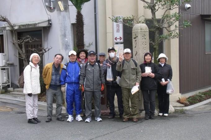 平成のやじきた道中伊勢の国テストウォーク四日市宿(2月26日)