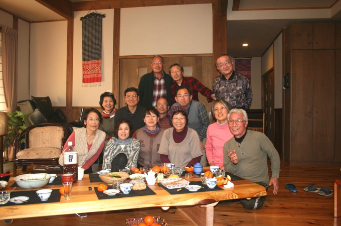 平成24年新年会の記念写真