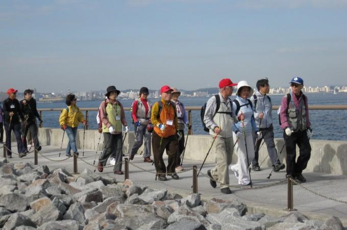 健康増進支援ノルディック・ウオーキング講習会(横須賀)