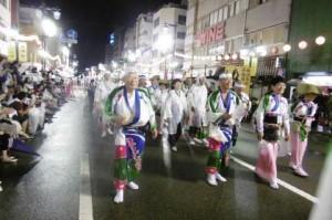 雨の中の阿波踊りイベント20180815