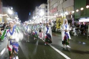 雨の中の阿波踊りイベント20180815②